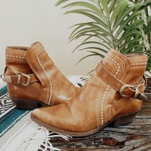 VINTAGE Guess Brown Rustic Western Boots